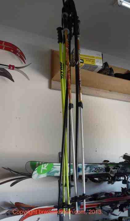 ski pole storage