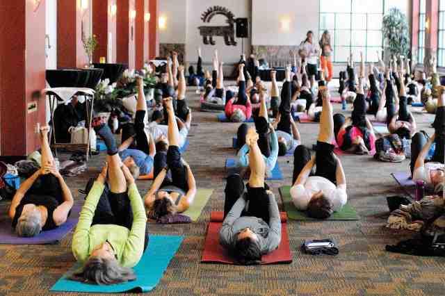 Mountain Pose Yoga. Photo courtesy Copper Mountain.