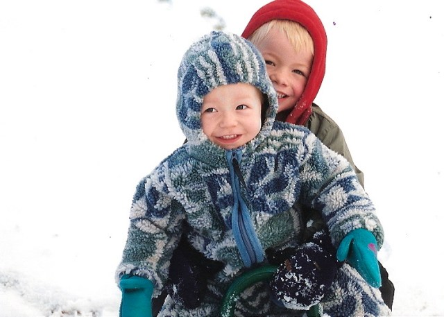 boys in snow