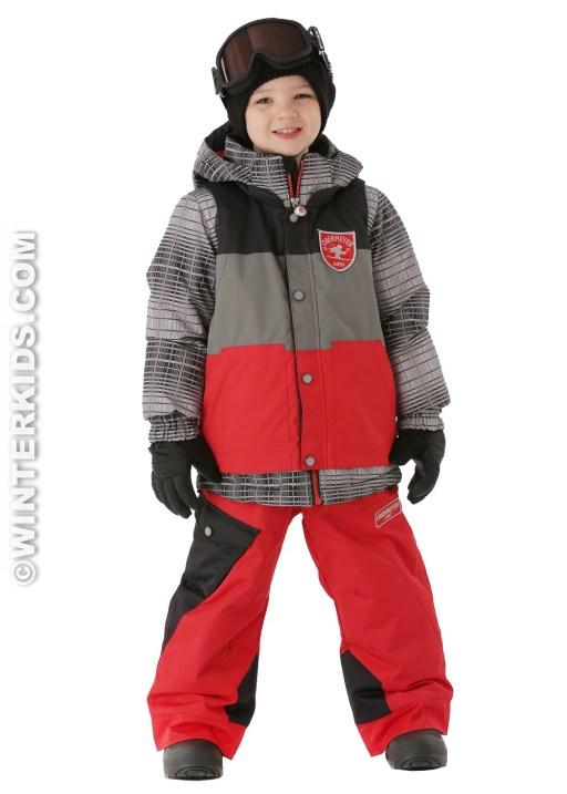 Obermeyer Boys Slopestyle Jacket in True Red