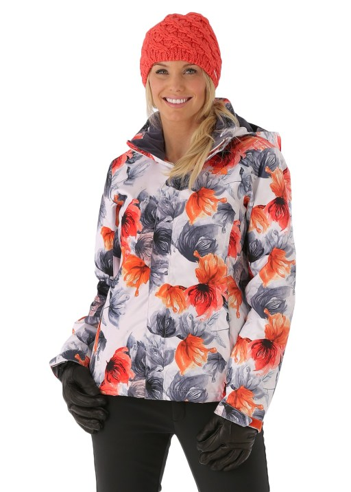 The North Face Women's Freedom Print Jacket in TNF White