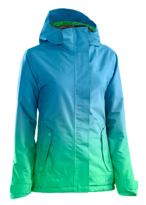 Under Armour Women's Coldgear Infrared Fader Jacket in Crown Jewel/Chlorophyll