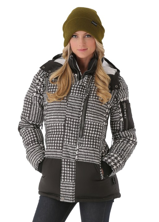 Burton L.A.M.B. Down Jacket in Big Houndstooth