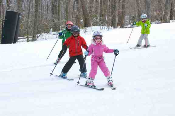kids skiing at butternut