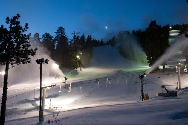 Night skiing mountain high california
