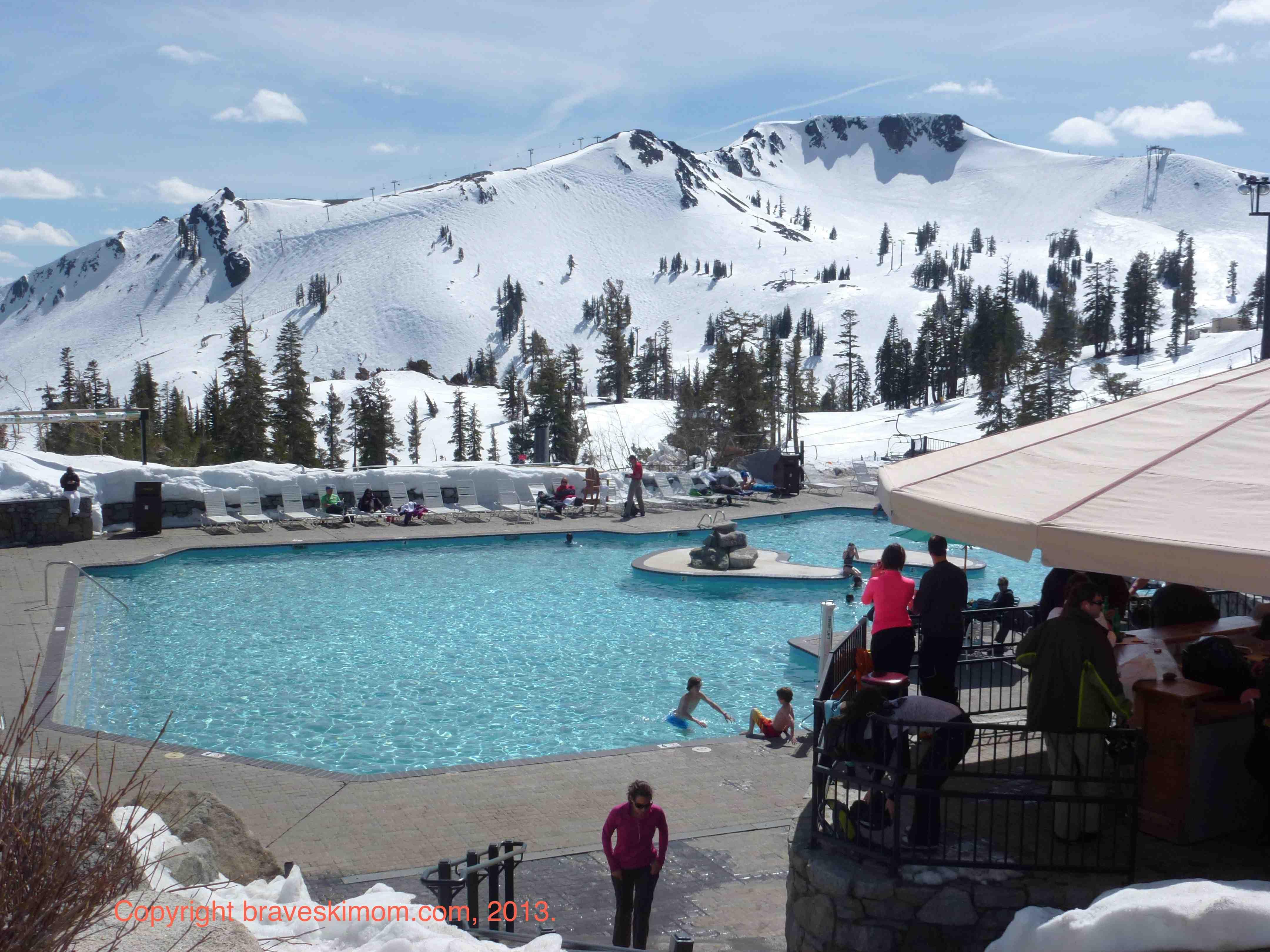 You gotta go ski squaw valley the brave ski mom - High camp swimming pool squaw valley ...