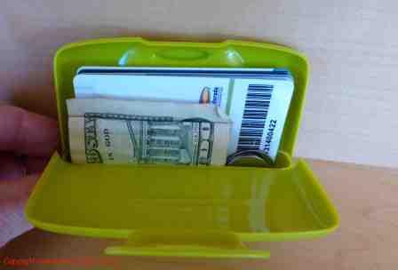 capsule plastic wallet