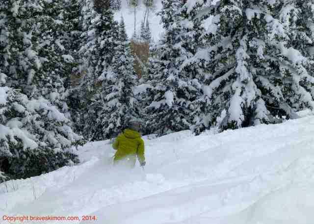 powder skiing deer valley