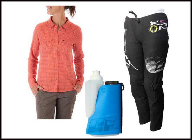 gear notes LIF Flasq, Sidesaddle plaid shirt, demon padded baselayer