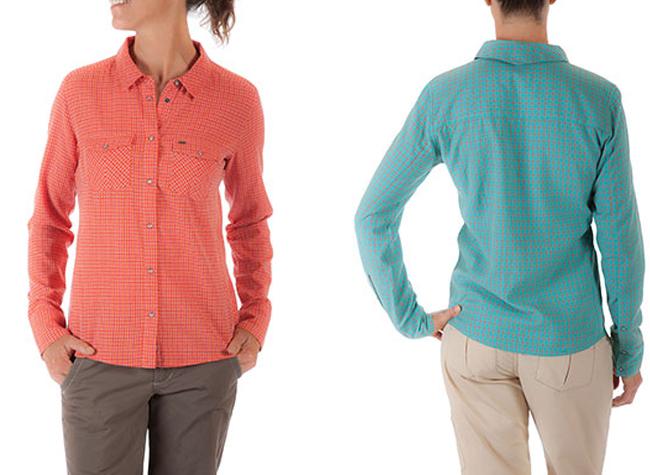 sidesaddle plaid shirt mountain khakis