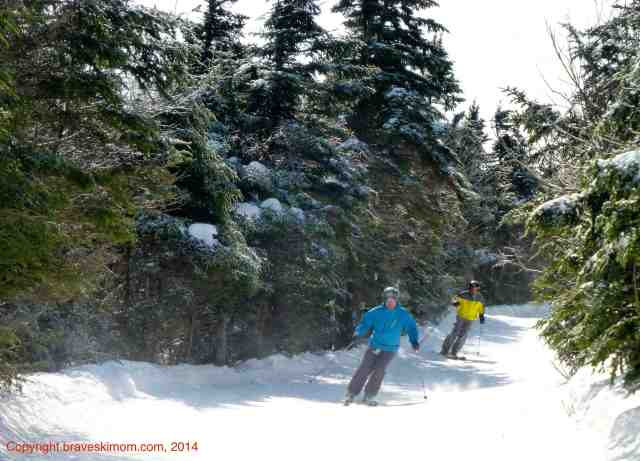 Skiing at pico Vermont