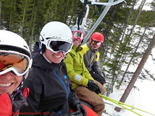 family skiing at breckenridge