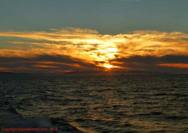 sunset over santa cruz island