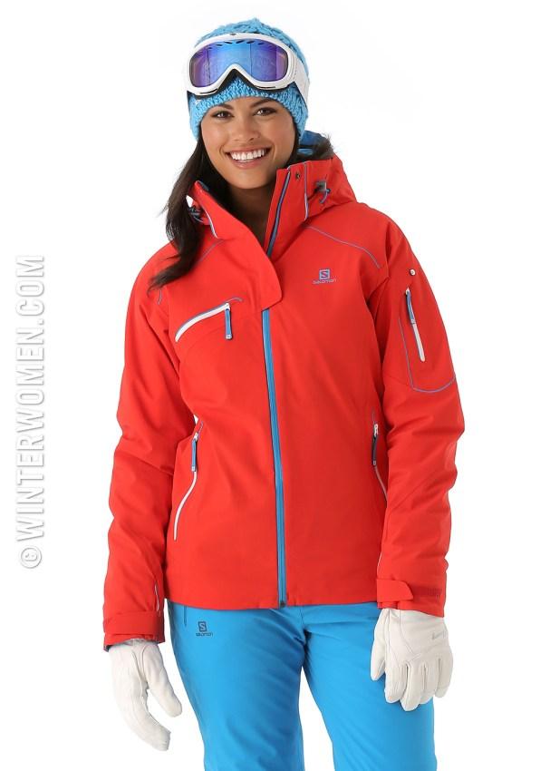 2014 2015 ski fashion salomon women's jacket