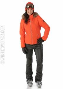 Ski fashion 2014 2015 spyder faux leather ski pants gem jacket