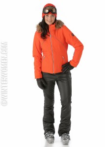 Ski fashion 2014 2015 spyder faux leather ski pants gem jacket
