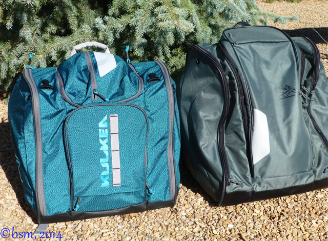 kulkea powder trekker and speed pack ski boot bags
