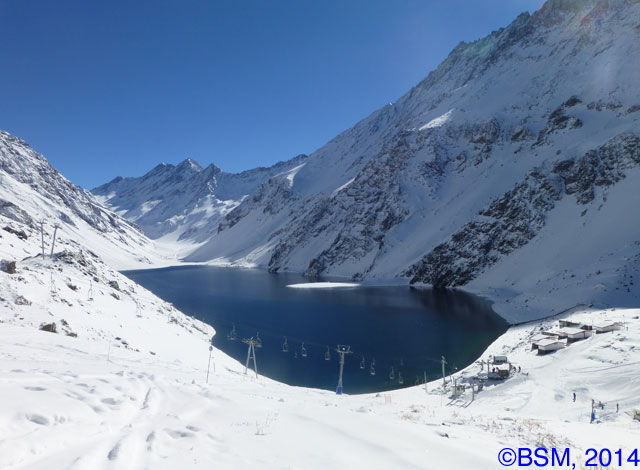 ski portillo and laguna del inca