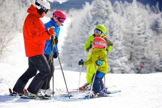 family skiing Okemo Vermont