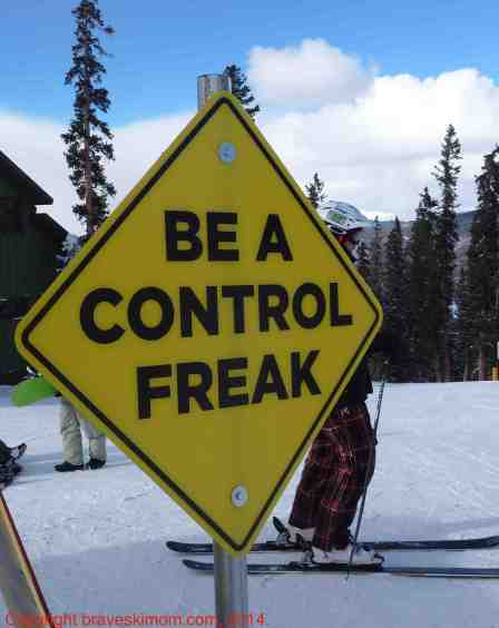control freak safety ski sign