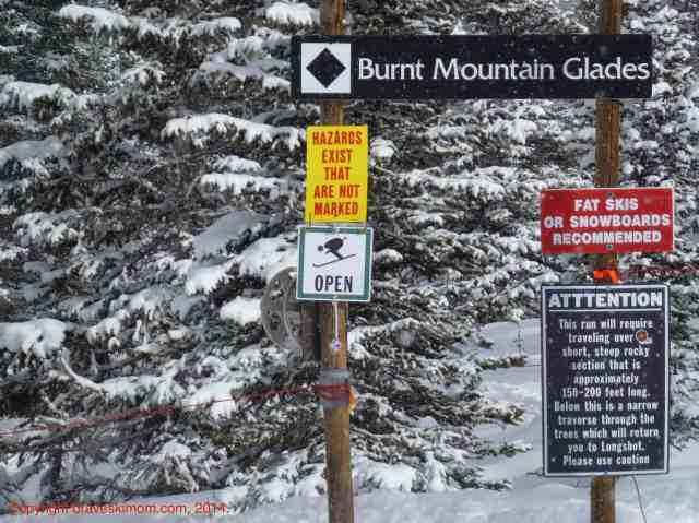 ski safety signs at snowmass