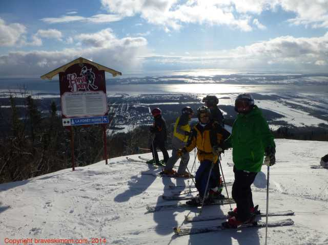 skiing mont sainte anne