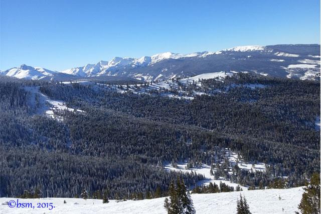 skiing views vail