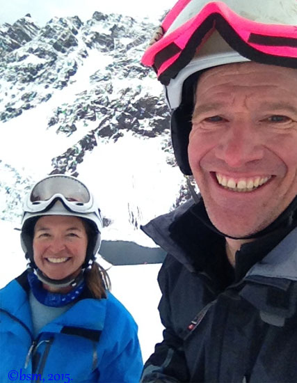 tips to ski with your partner