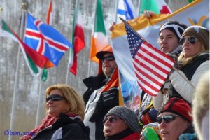 ski racing fans at beaver creek world championships