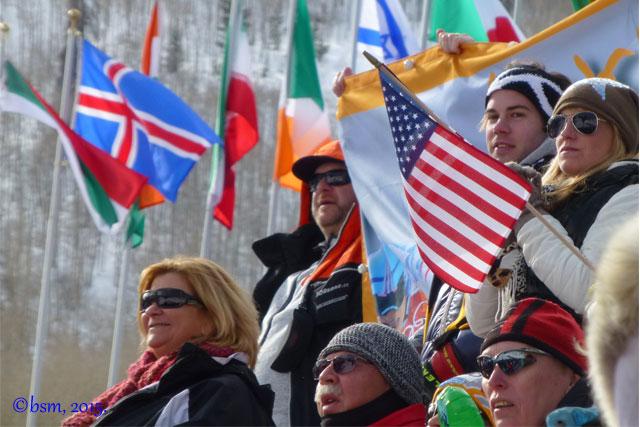 ski racing fans at beaver creek world championships