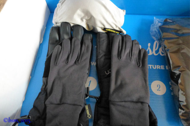 goggles and gloves get outfitted