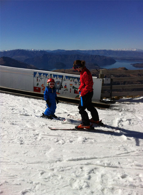family skiing treble cone new zealand