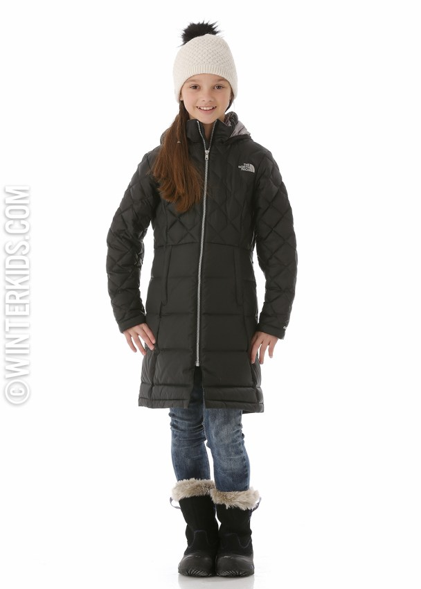 The north face long jacket for girls