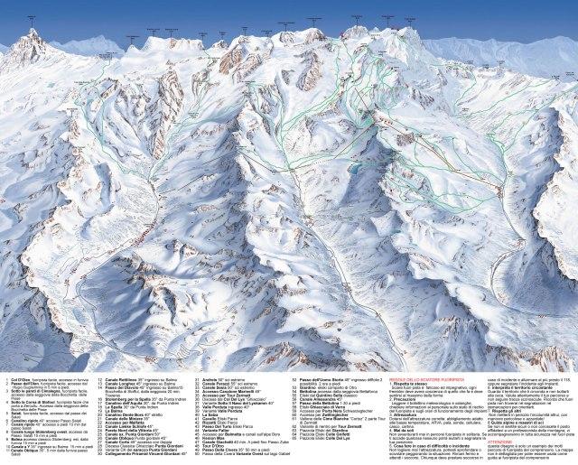 monterosa off piste ski map