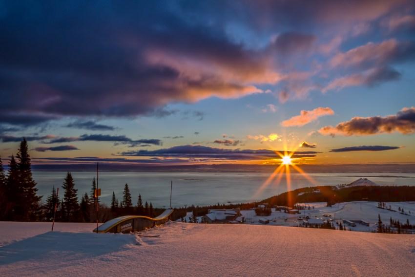 sunset at le massif