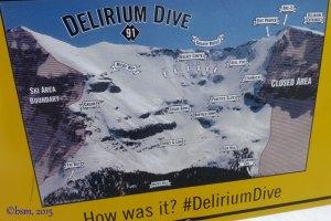 delirium dive map sunshine village