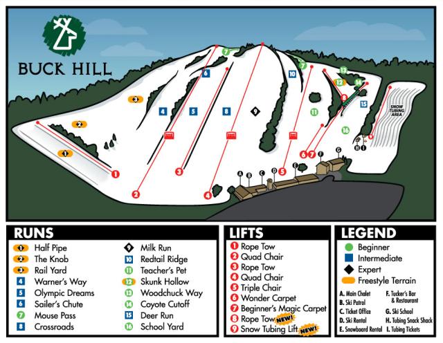 buck hill trail map