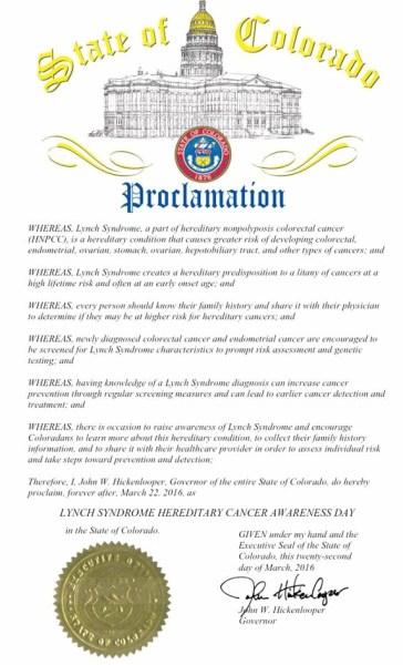 colorado lynch proclamation