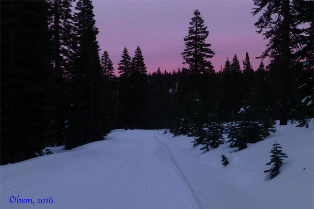 twilight snowshoe north star