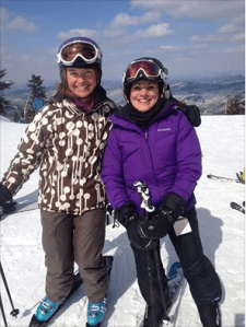 "A Ski Diva/Brave Ski Mom ""Sweep"""