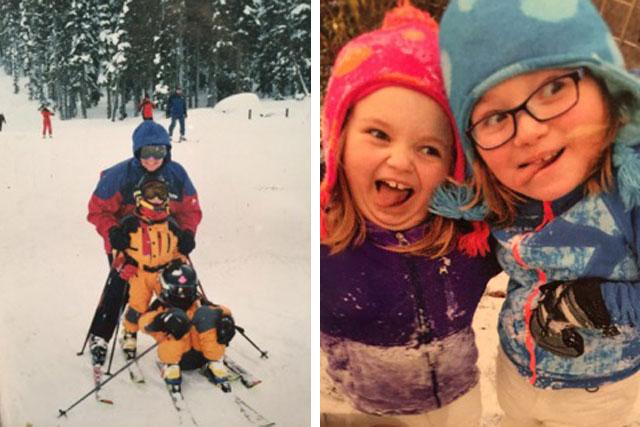 family skiing whistler blackcomb