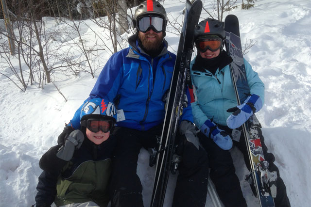 mt bohemia family skiing