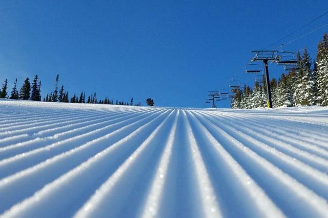 eldora corduroy skiing