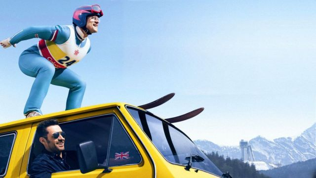 a photo from eddie the eagle movie