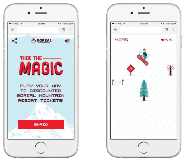 boreal mountain resort ride the magic game