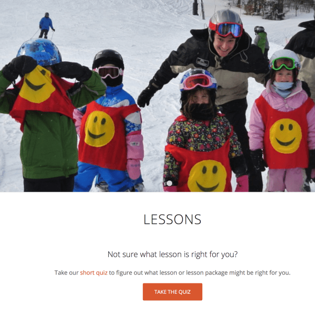 bristol mountain new york online quiz to help choose ski and snowboard lessons
