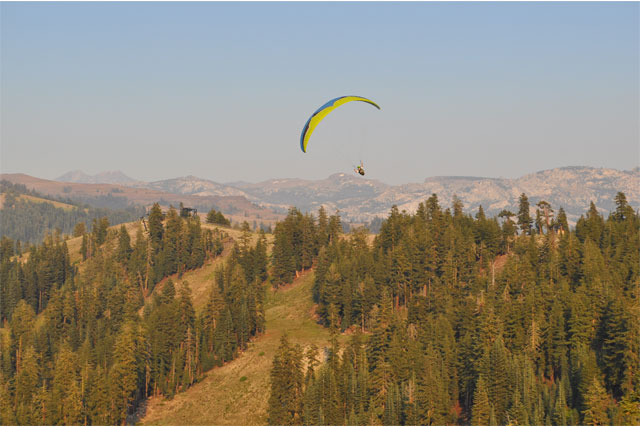 bear valley skiing and parasailing