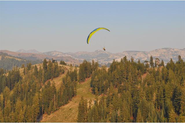 bear valley skiing and parasailing