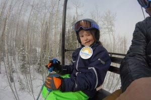 sunlight mini mayor gabby noyes on the chairlift