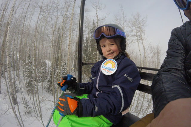sunlight mini mayor gabby noyes on the chairlift